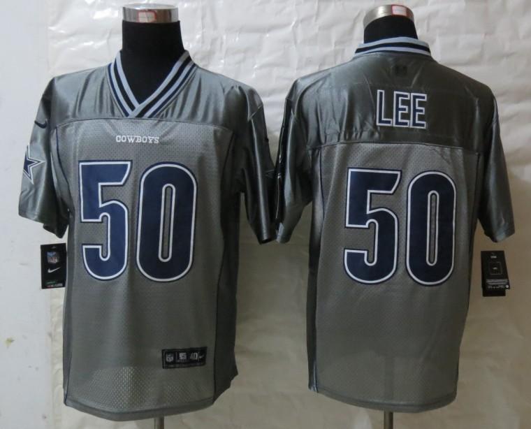 Dallas cowboys 50 Lee Grey Vapor 2013 NEW Nike Elite Jerseys