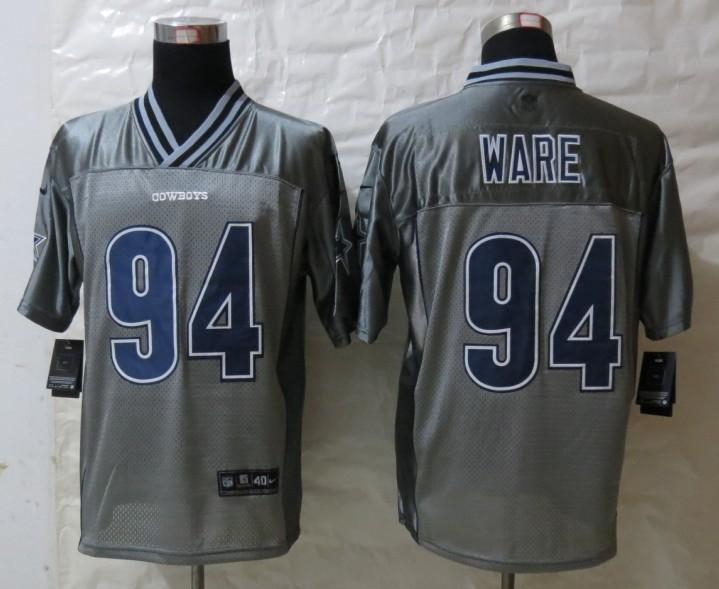 Dallas cowboys 94 Ware Grey Vapor 2013 NEW Nike Elite Jerseys