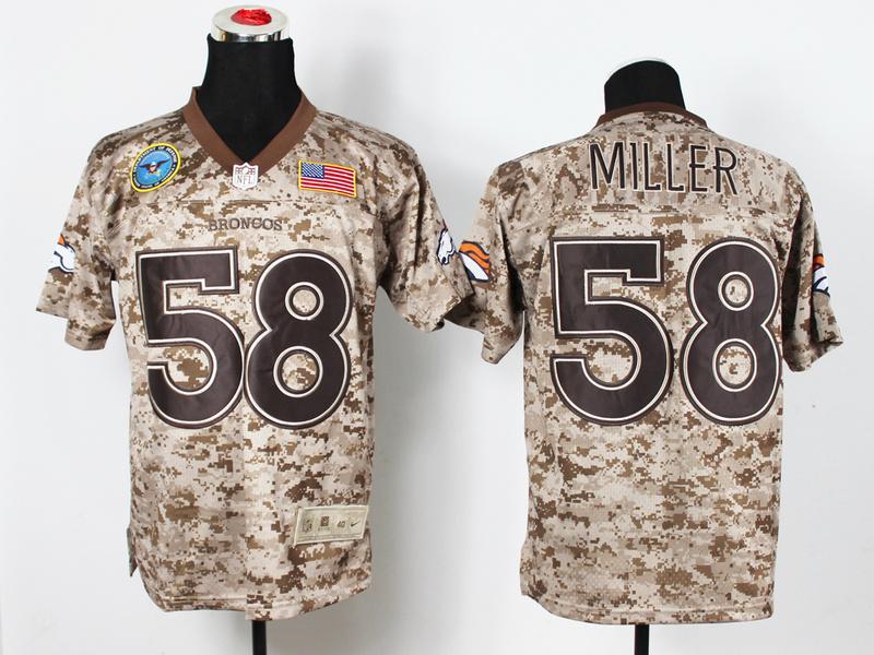 Denver Broncos 58 Miller Digital Camo Nike Salute to Service Elite Jersey