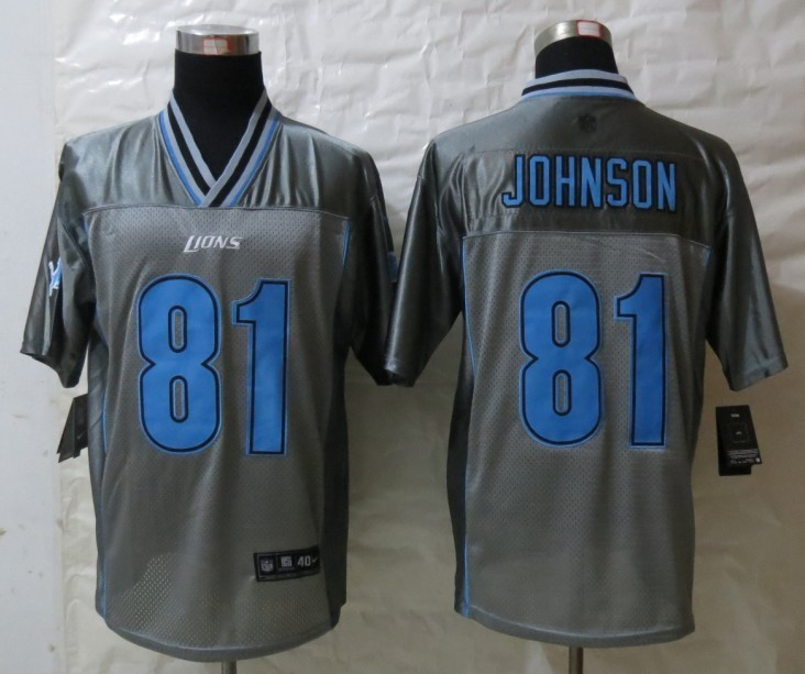 Detroit Lions 81 Johnson Grey Vapor 2013 New Nike Elite Jerseys