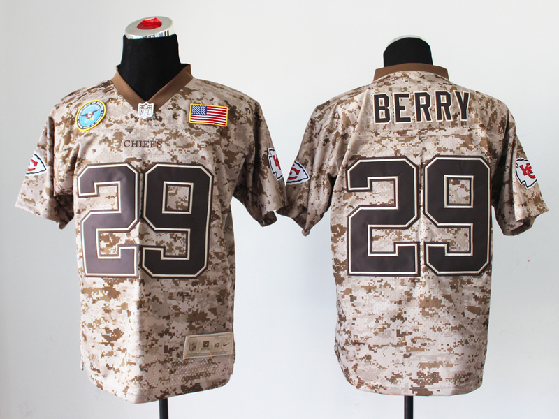 Kansas City Chiefs 29 Eric Berry Digital Camo Nike Salute to Service Elite Jersey