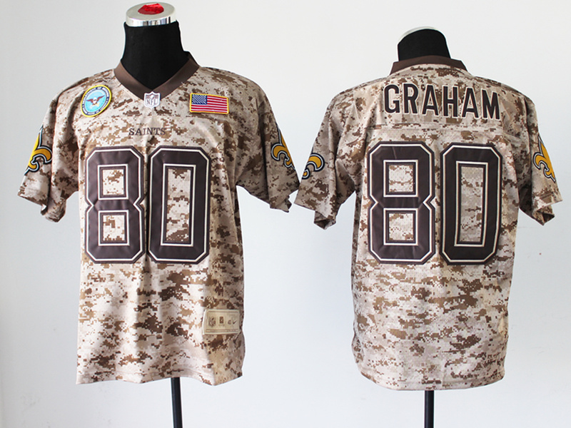New Orleans Saints 80 Graham Digital Camo Nike Salute to Service Elite Jersey