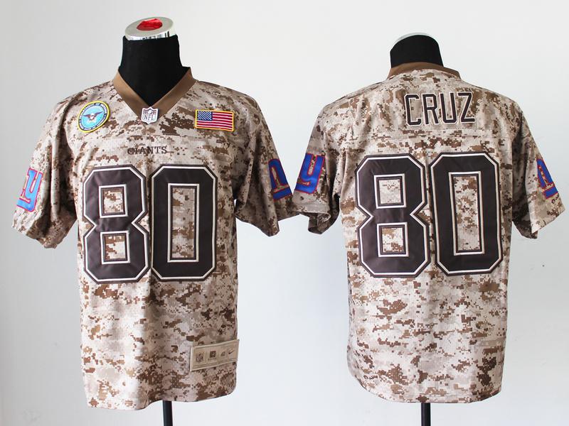 New York Giants 80 Victor Cruz Digital Camo Nike Salute to Service Elite Jersey
