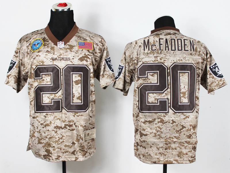 Oakland Raiders 20 McFadden Digital Camo Nike Salute to Service Elite Jersey