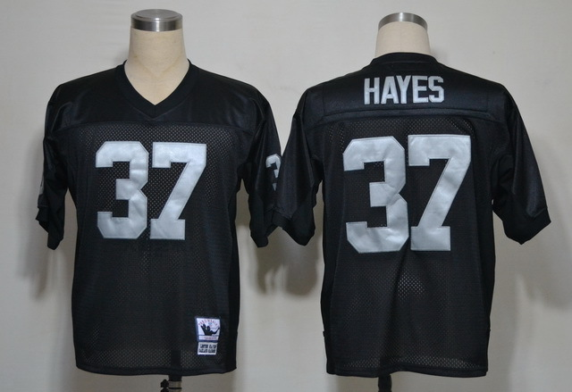 Oakland Raiders 37 Lester Hayes Black Throwback Mitchell And Ness NFL Jersey