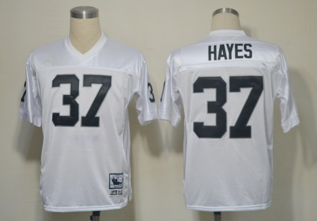 Oakland Raiders 37 Lester Hayes White Throwback Mitchell And Ness NFL Jersey