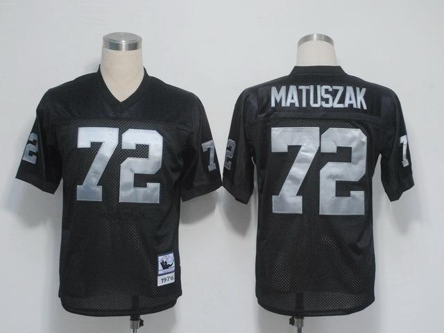 Oakland Raiders 72 Matuszak Black Throwback Mitchell And Ness NFL Jersey