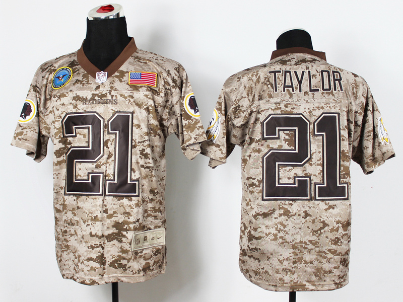 Washington RedSkins 21 Sean Taylo Digital Camo Nike Salute to Service Elite Jersey