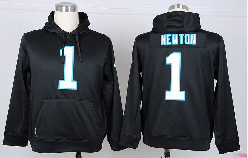Nike NFL Carolina Panthers 1 Newton Black Hoodie