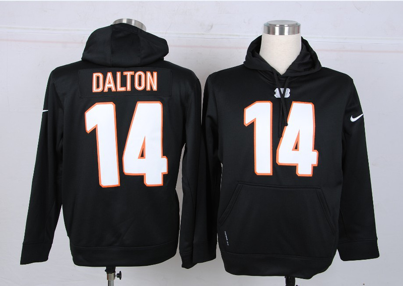Nike NFL Cincinnati Bengals 14 Dalton Black Hoodie