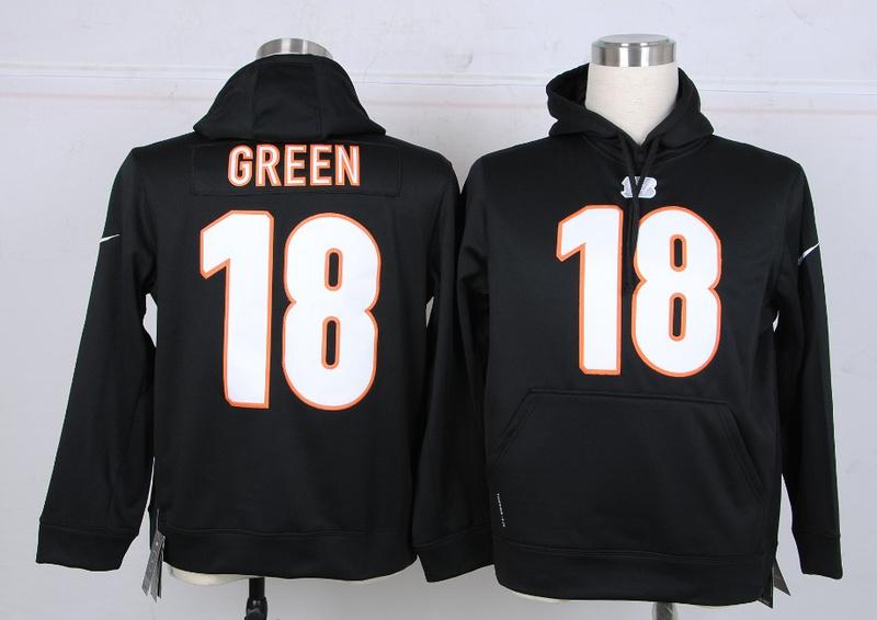 Nike NFL Cincinnati Bengals 18 Green Black Hoodie