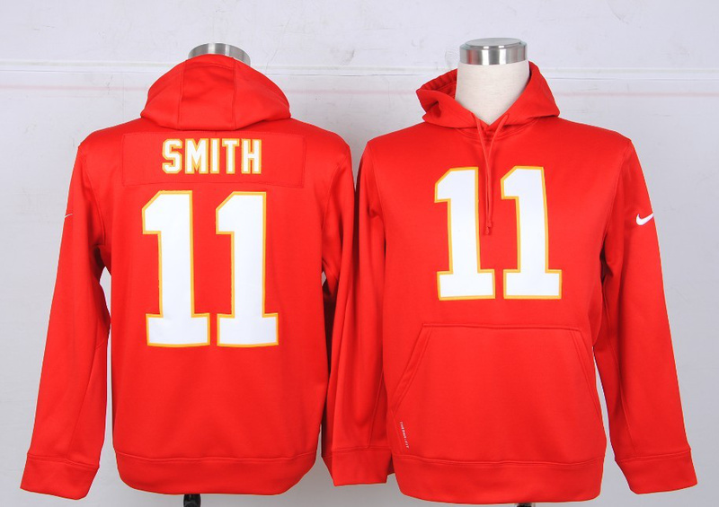 Nike NFL Kansas City Chiefs 11 Smith red Hoodie