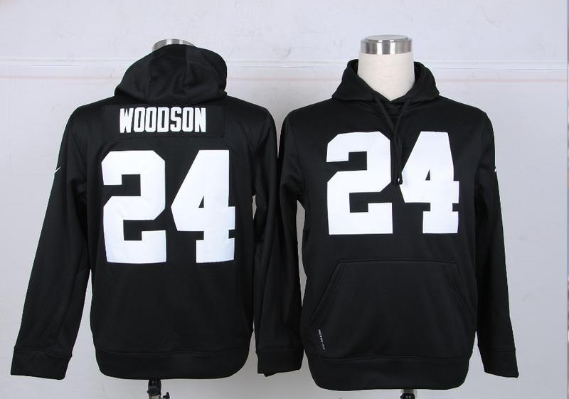Nike NFL Oakland Raiders 24 Woodson Black Hoodie
