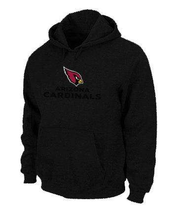 Arizona Cardinals Authentic Logo Pullover Hoodie Black