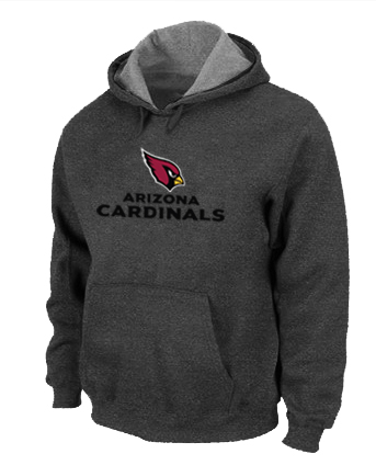 Arizona Cardinals Authentic Logo Pullover Hoodie D.Grey