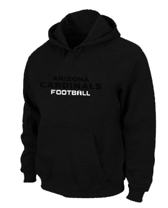 Arizona Cardinals Authentic font Pullover Hoodie Black