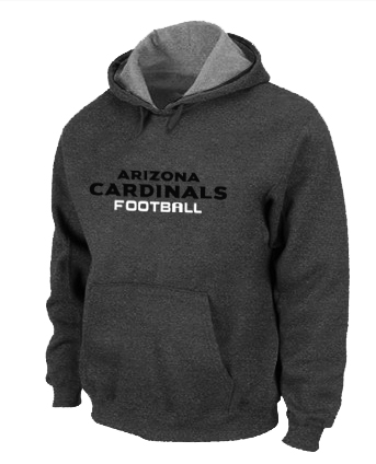 Arizona Cardinals Authentic font Pullover Hoodie D.Grey