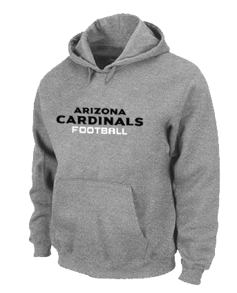 Arizona Cardinals Authentic font Pullover Hoodie Grey