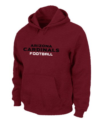 Arizona Cardinals Authentic font Pullover Hoodie Red