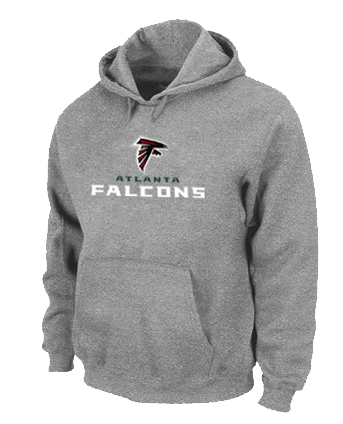 Atlanta Falcons Authentic Logo Pullover Hoodie Grey