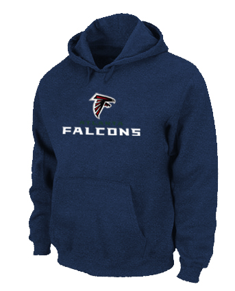 Atlanta Falcons Authentic Logo Pullover Hoodie D.Blue