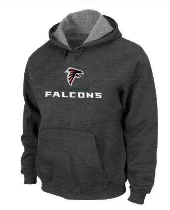 Atlanta Falcons Authentic Logo Pullover HoodieD.Grey