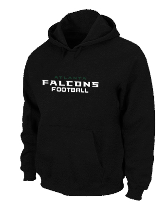 Atlanta Falcons Authentic font Pullover Hoodie Black