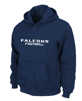 Atlanta Falcons Authentic font Pullover Hoodie D.Blue