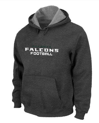 Atlanta Falcons Authentic font Pullover Hoodie D.Grey