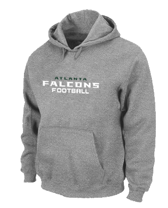 Atlanta Falcons Authentic font Pullover Hoodie Grey