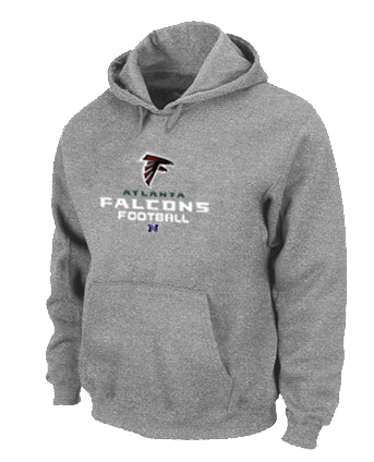 Atlanta Falcons Critical Victory Pullover Hoodie Grey