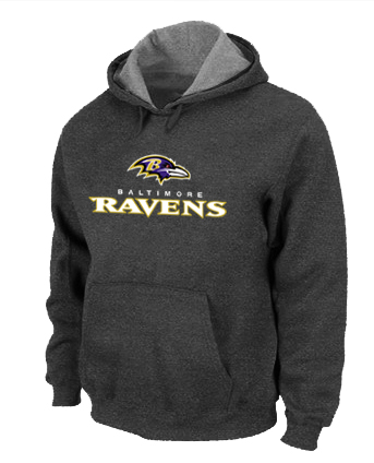 Baltimore Ravens Authentic Logo Pullover Hoodie D.Grey