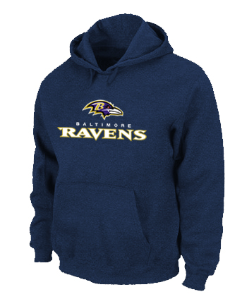 Baltimore Ravens Authentic Logo Pullover Hoodie D.Blue