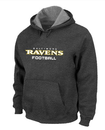 Baltimore Ravens Authentic font Pullover Hoodie D.Grey