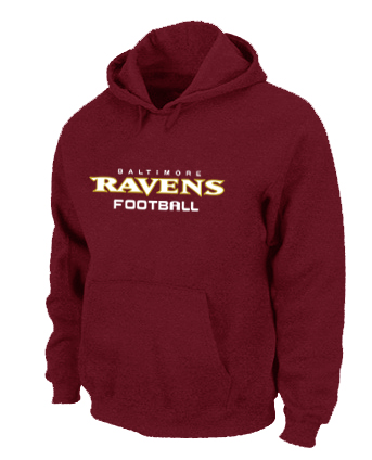 Baltimore Ravens Authentic font Pullover Hoodie Red