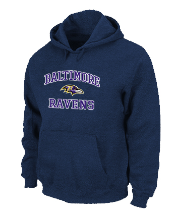 Baltimore Ravens Heart & Soul Pullover Hoodie D.Blue
