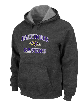 Baltimore Ravens Heart & Soul Pullover Hoodie D.Grey