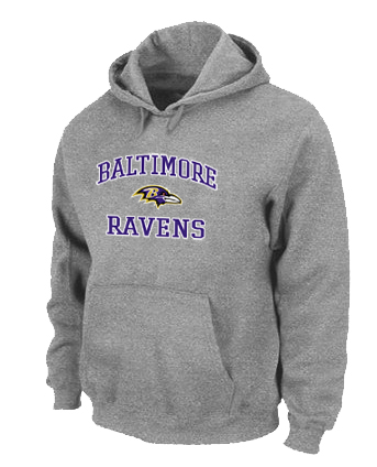 Baltimore Ravens Heart & Soul Pullover Hoodie Grey