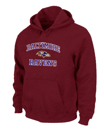 Baltimore Ravens Heart & Soul Pullover Hoodie Red
