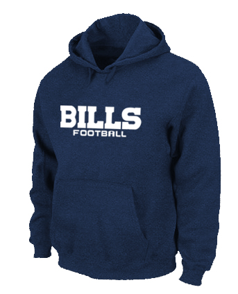 Buffalo Bills Authentic font Pullover Hoodie D.Blue