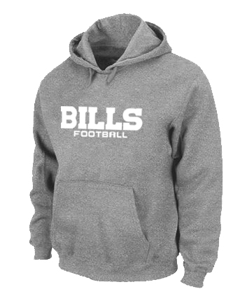 Buffalo Bills Authentic font Pullover Hoodie Grey