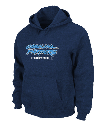 Carolina Panthers Authentic font Pullover Hoodie D.Blue