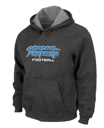 Carolina Panthers Authentic font Pullover Hoodie D.Grey