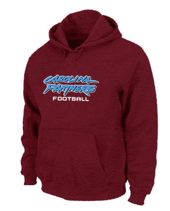 Carolina Panthers Authentic font Pullover Hoodie Red