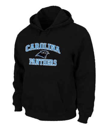 Carolina Panthers Heart & Soul Pullover Hoodie Black