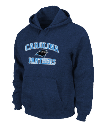 Carolina Panthers Heart & Soul Pullover Hoodie D.Blue
