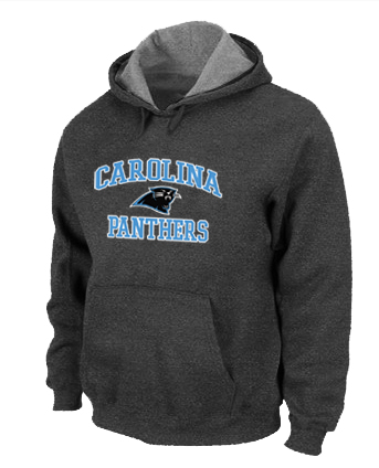 Carolina Panthers Heart & Soul Pullover Hoodie D.Grey