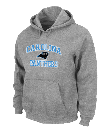 Carolina Panthers Heart & Soul Pullover Hoodie Grey