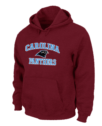 Carolina Panthers Heart & Soul Pullover Hoodie Red