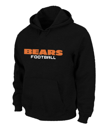 Chicago Bears Authentic font Pullover Hoodie Black